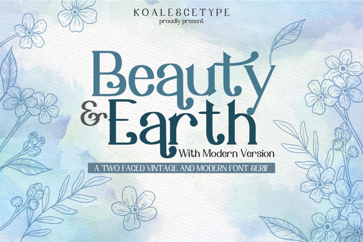 Beauty Earth Font Duo Modern/Vintage in Serif Fonts