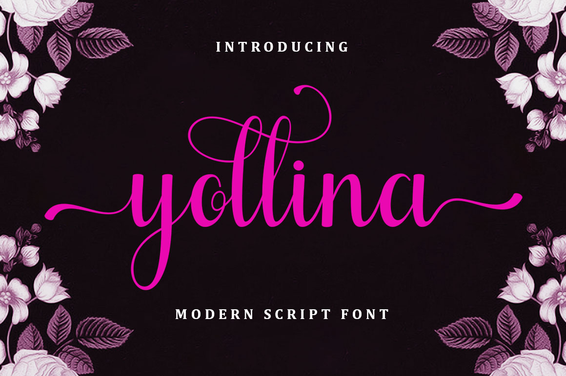 Yollina - Modern Script in Calligraphy Fonts