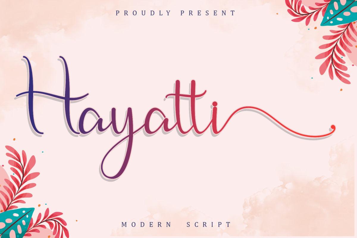 Hayatti in Script Fonts