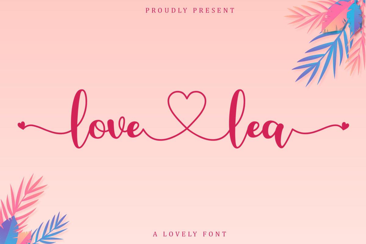 Love Lea in Script Fonts