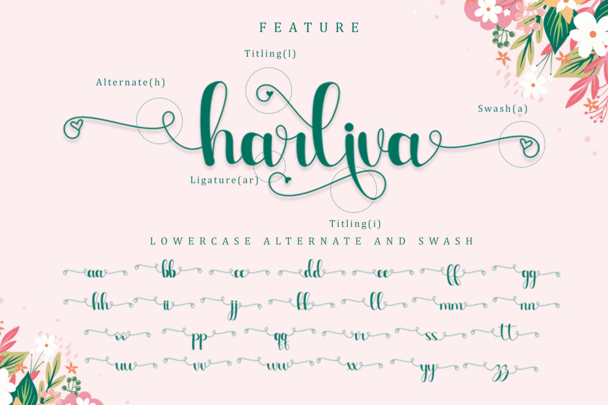 Harliva in Calligraphy Fonts