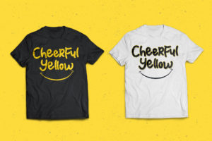 Cheerful Yellow in Display Fonts