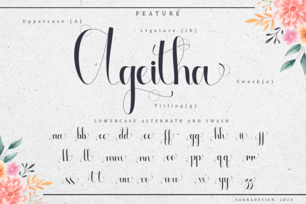 Ageitha in Calligraphy Fonts
