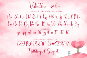 Valentine Soul in Calligraphy Fonts