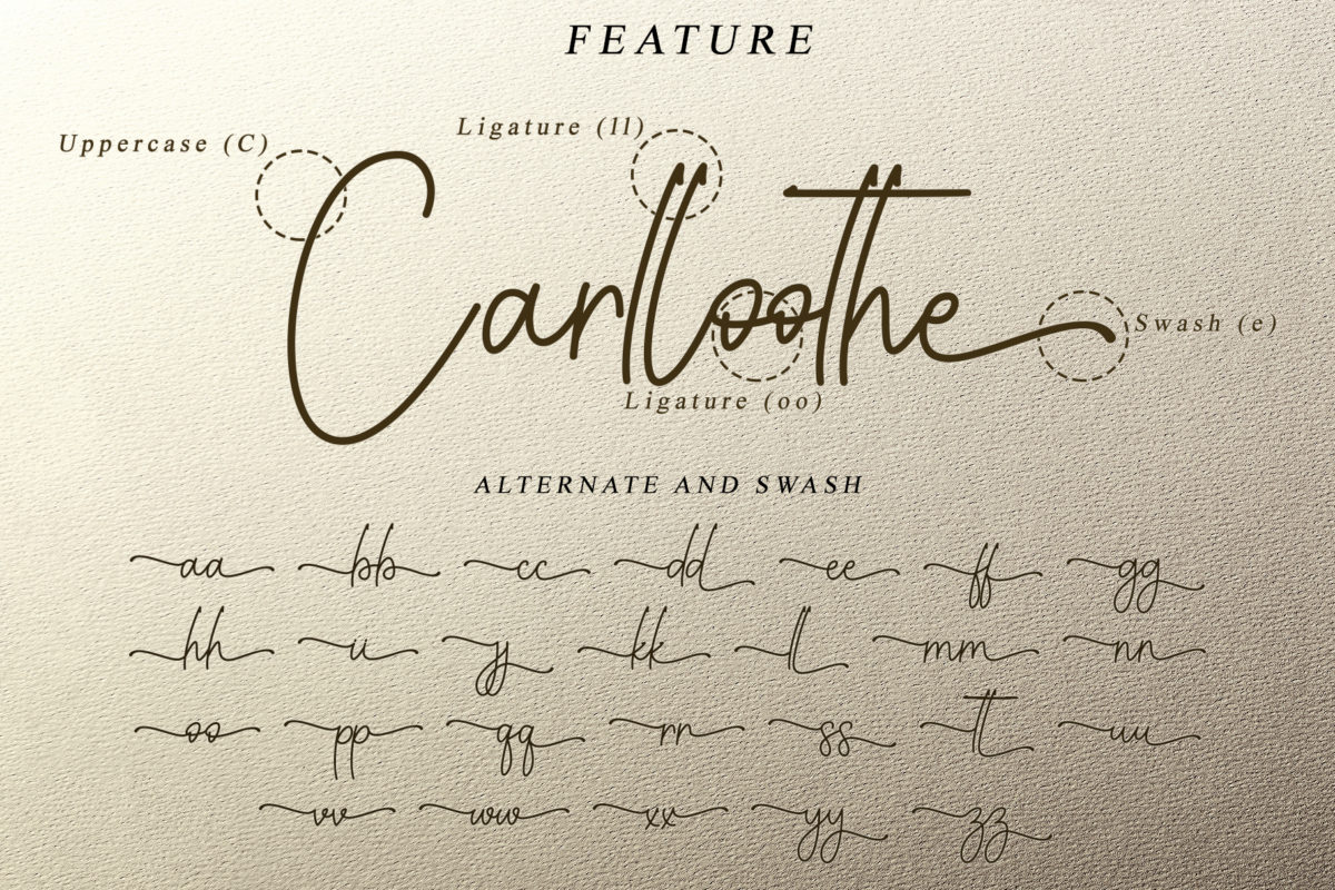Youth Line in Handwriting Fonts