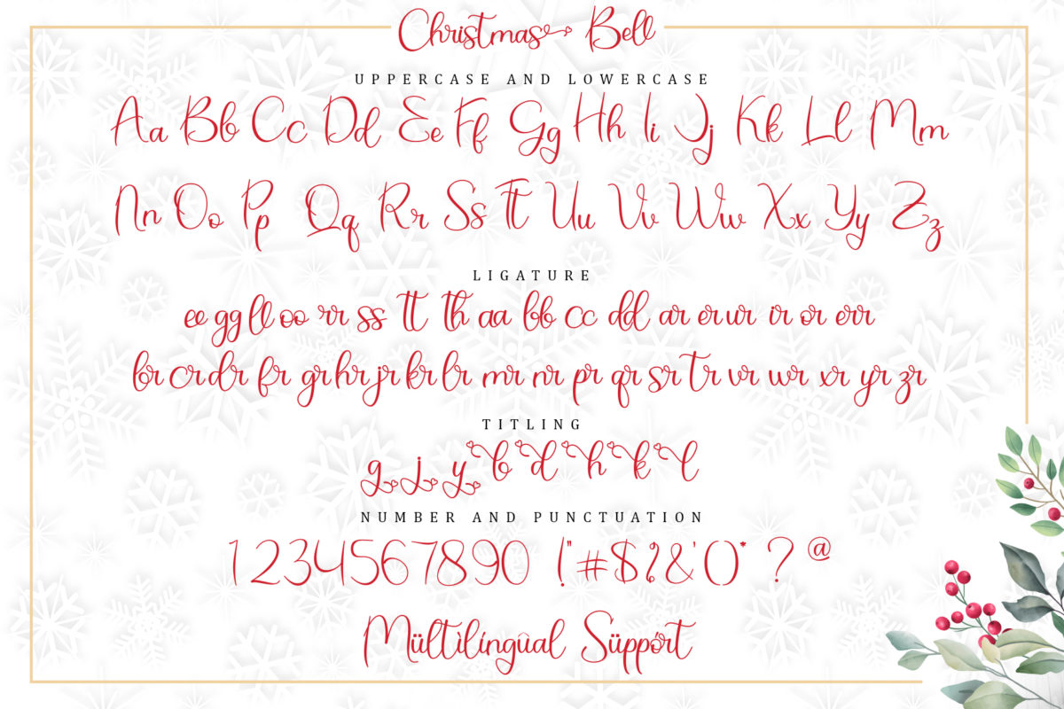 Christmas Bell in Calligraphy Fonts