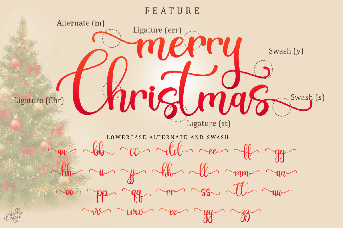 Christmas Bright in Calligraphy Fonts