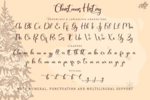 Christmas History in Calligraphy Fonts