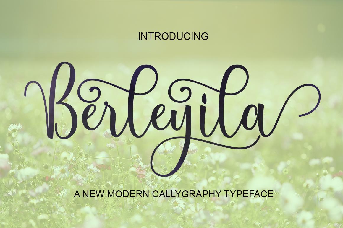 Berleyila in Calligraphy Fonts