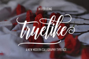 Truelike in Calligraphy Fonts