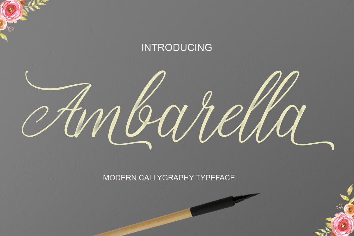 Ambarella in Script Fonts