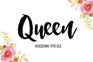 Queen in Brush Fonts