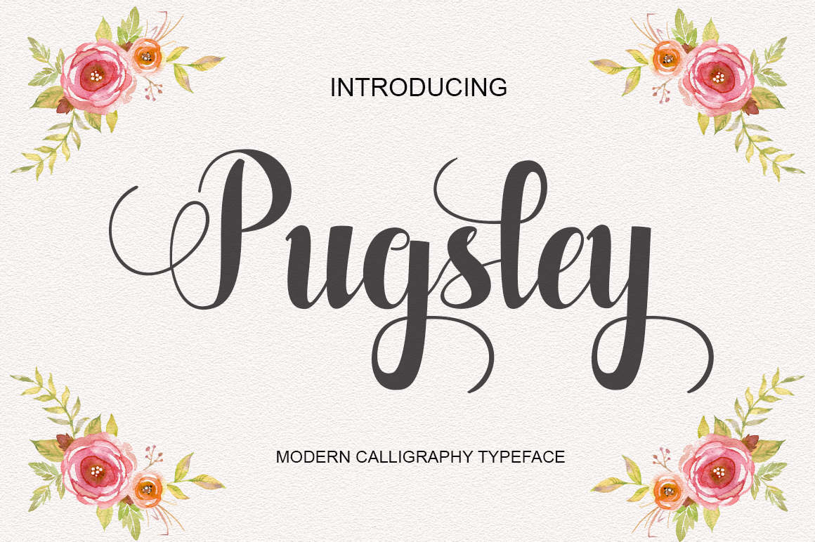 Pugsley in Calligraphy Fonts