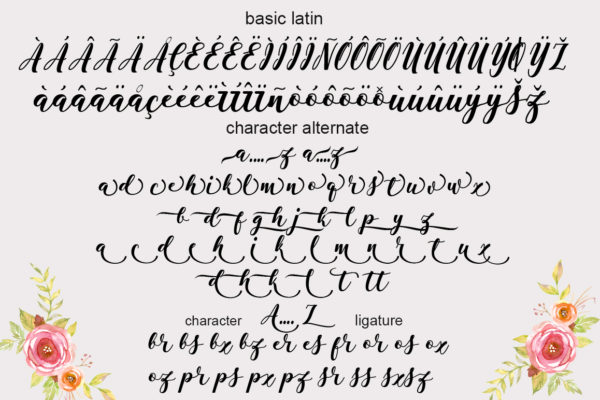 Antelope in Calligraphy Fonts
