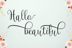 Magnolia in Calligraphy Fonts