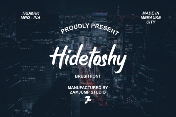 Hidetoshy in Brush Fonts