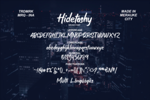 Hidetoshy in Display Fonts