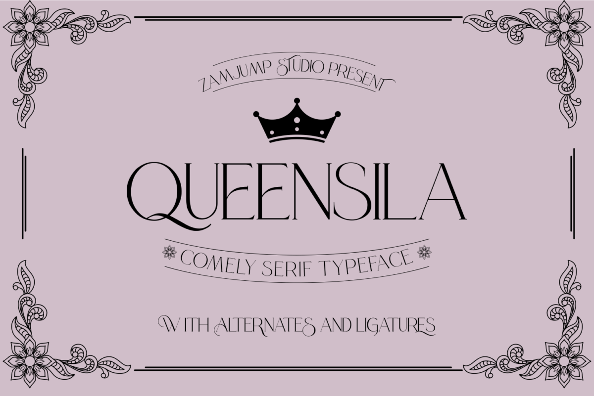 Queensila in Decorative Fonts