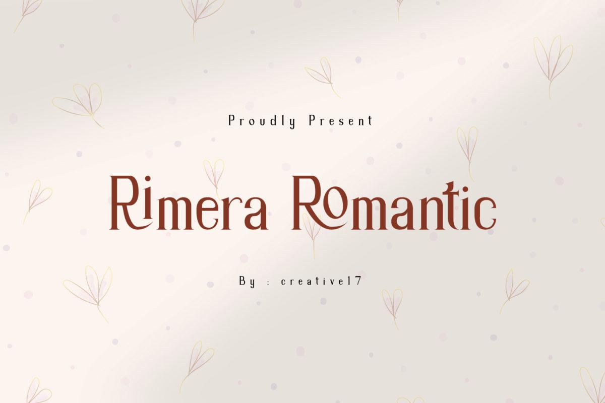 Rimera Romantic in Serif Fonts