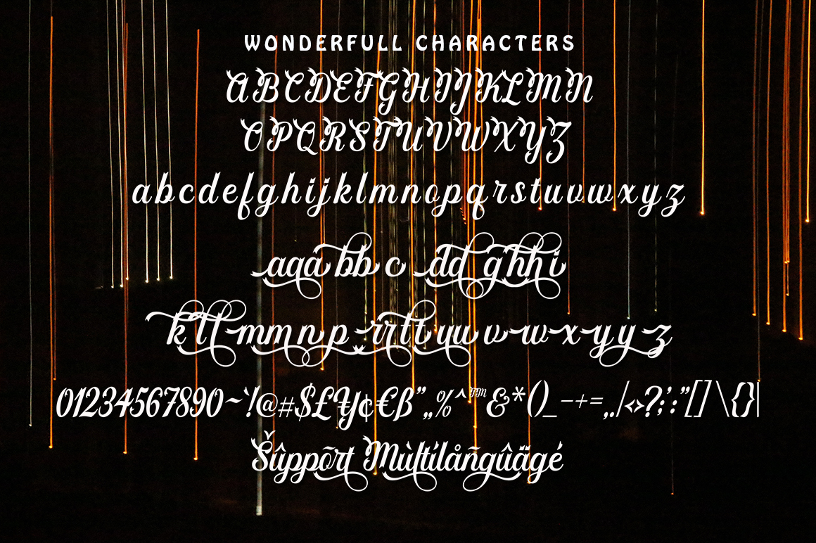 Wonderfull in Script Fonts
