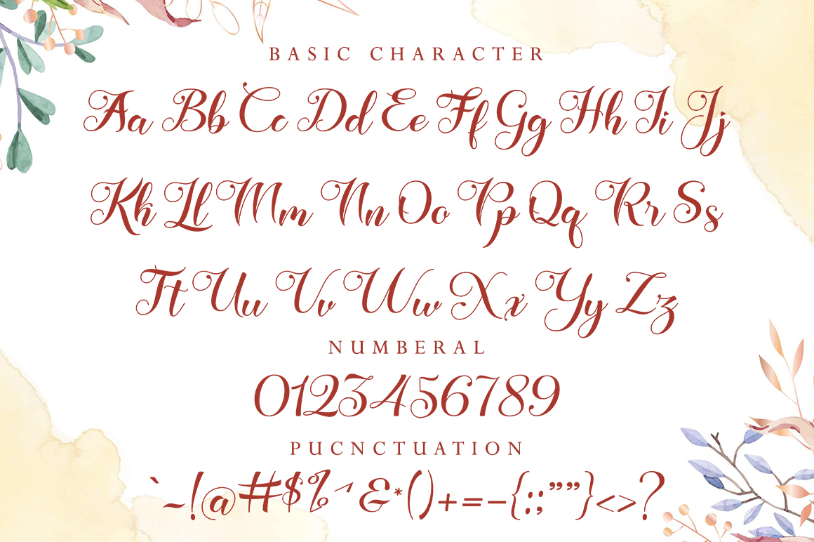 Lady Rose in Calligraphy Fonts
