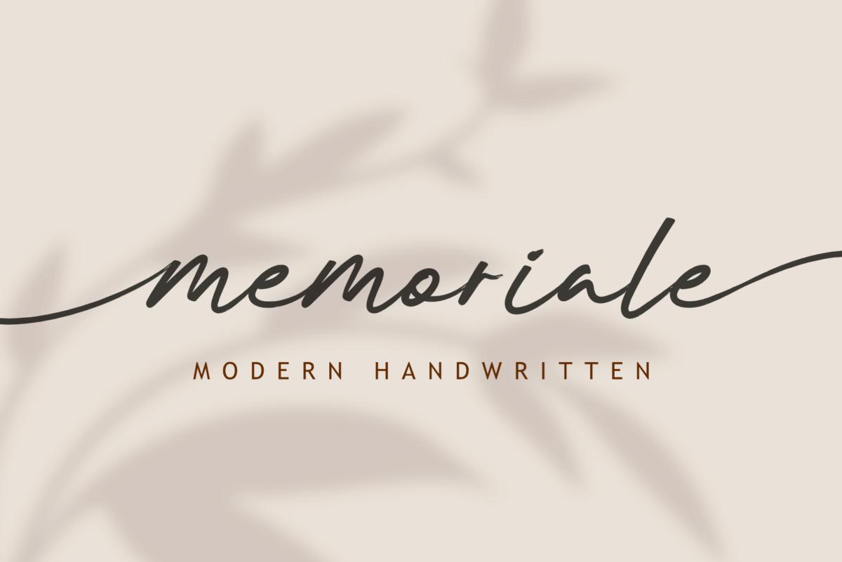 Memoriale - Modern Handwritten in Script Fonts