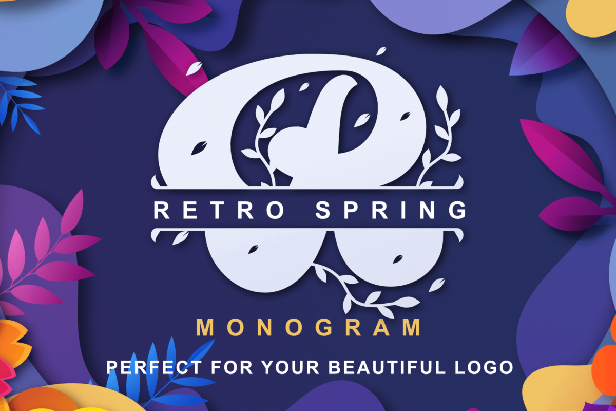 Retro Spring - Monogram in Decorative Fonts