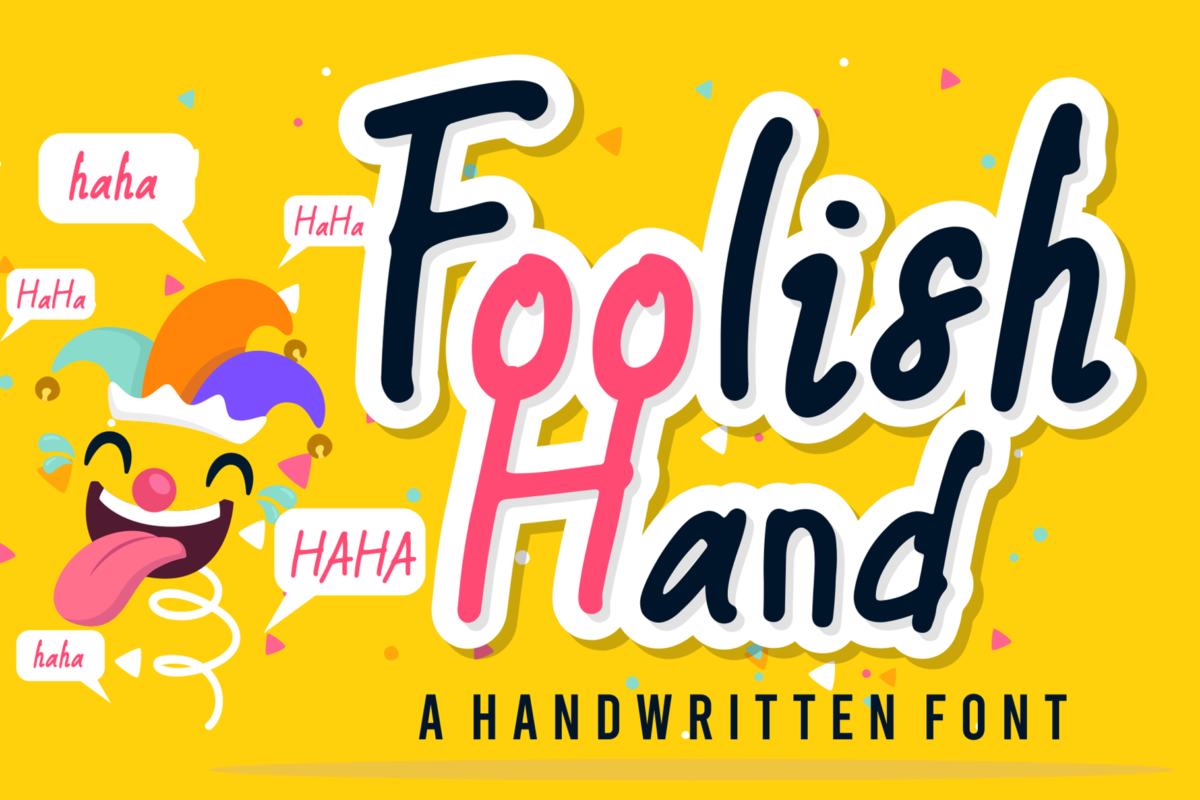 Foolish Hand in Display Fonts