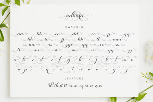 adhista in Calligraphy Fonts