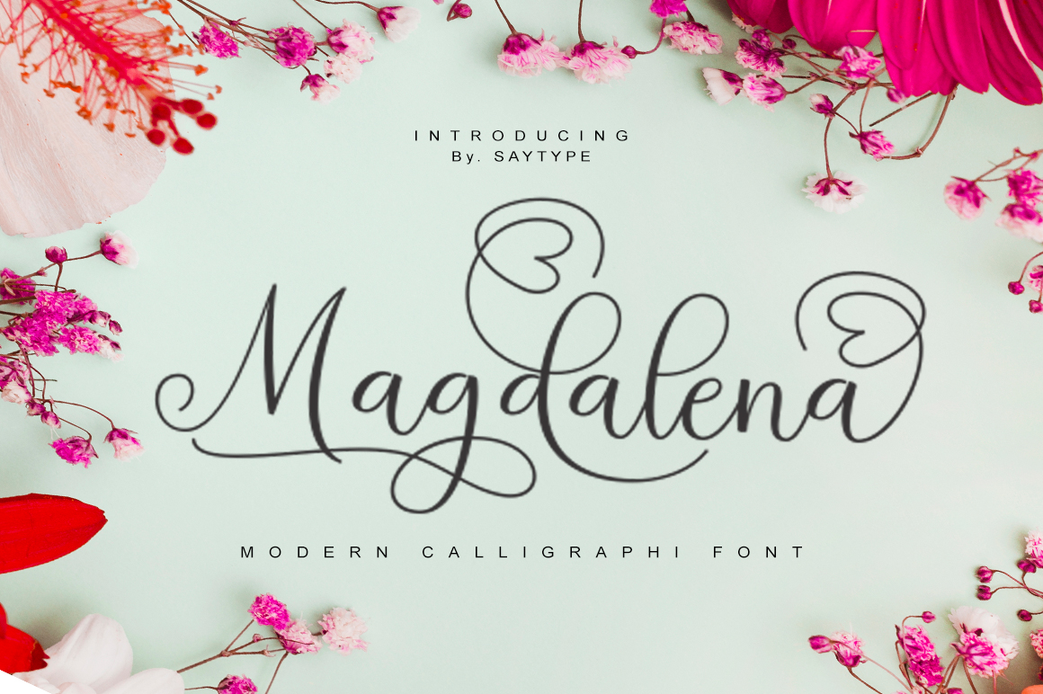 Magdalena in Calligraphy Fonts