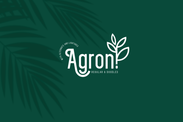 Agron in Decorative Fonts