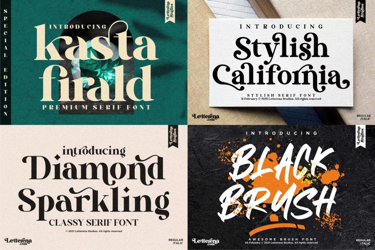 Best Seller - Mega Bundle 144 Fonts in Bundles Fonts