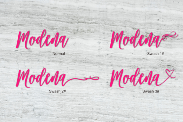 Modena in Calligraphy Fonts
