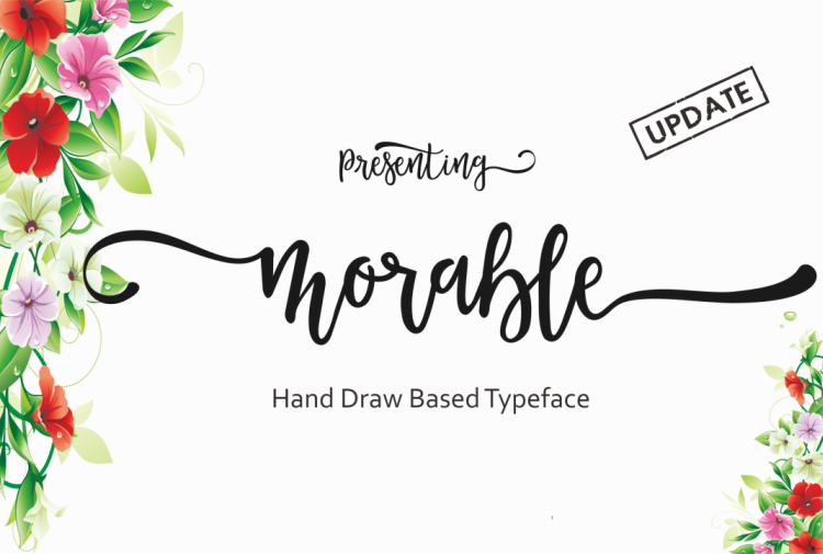 Morable in Calligraphy Fonts