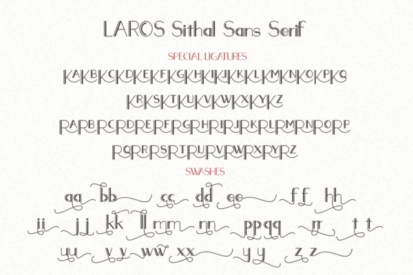 LAROSH Sithal - Font Duo+Extra in Handwriting Fonts