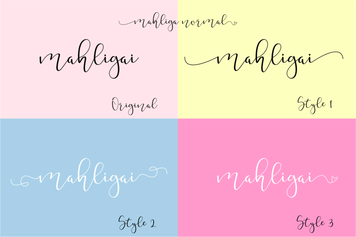 Mahligai in Calligraphy Fonts
