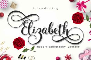 elizabeth in Calligraphy Fonts