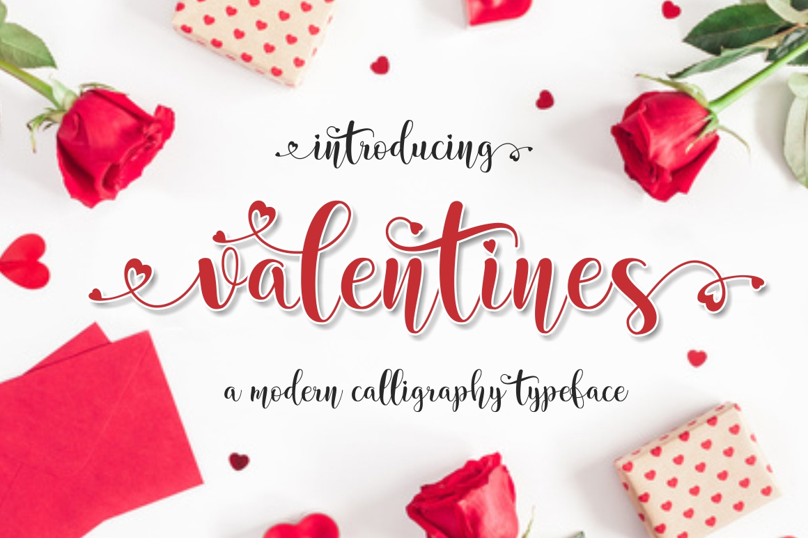 valentines in Calligraphy Fonts
