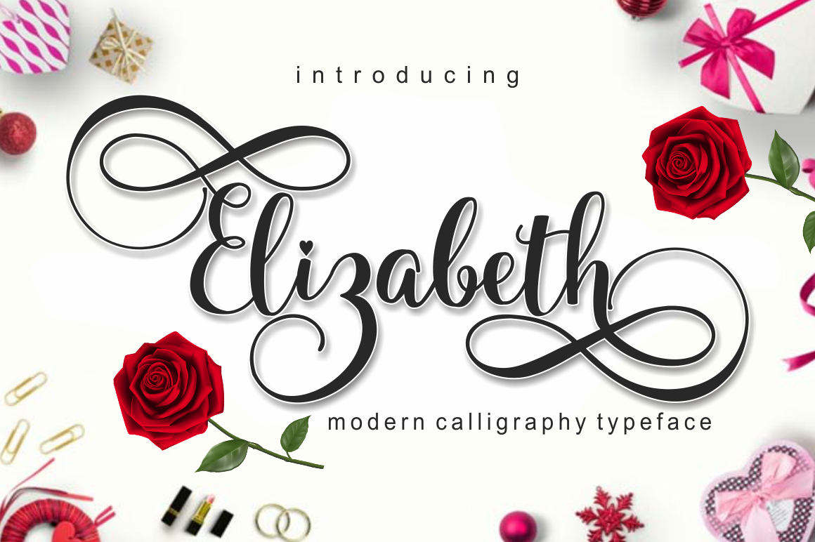 elizabeth in Calligraphy Fonts