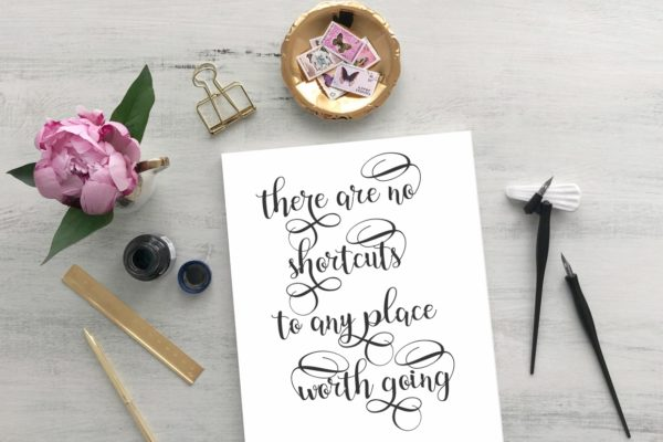 Harmony in Calligraphy Fonts