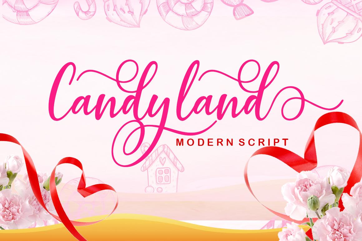 Candyland in Script Fonts