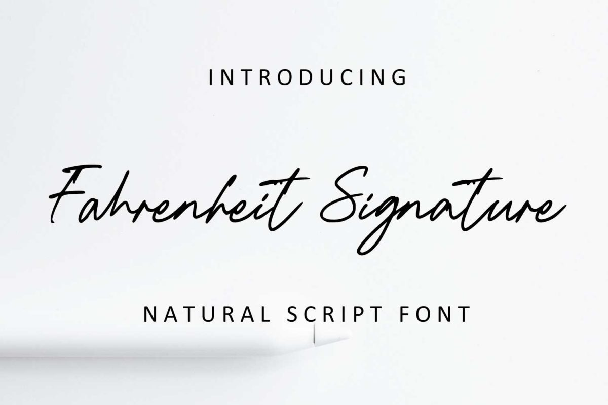 Fahrenheit Signature in Display Fonts