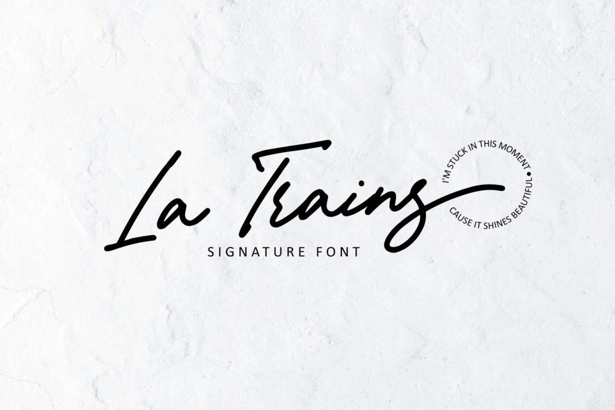 La Trains in Display Fonts