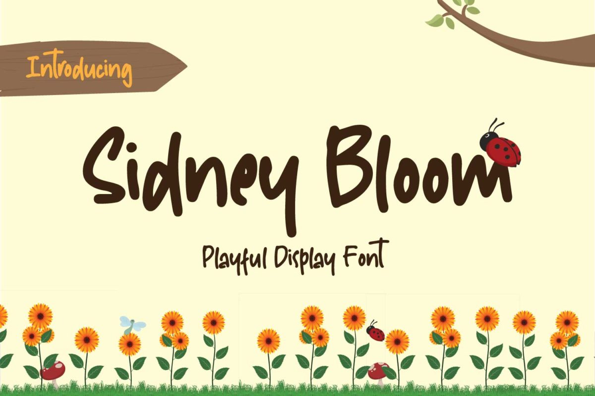 Sidney Bloom in Display Fonts