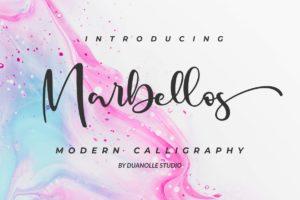 Marbellos in Script Fonts
