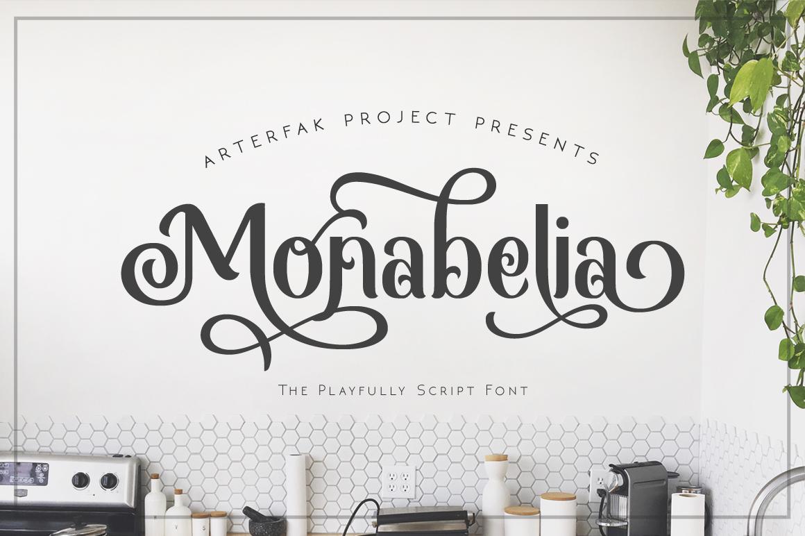 Monabelia in Display Fonts