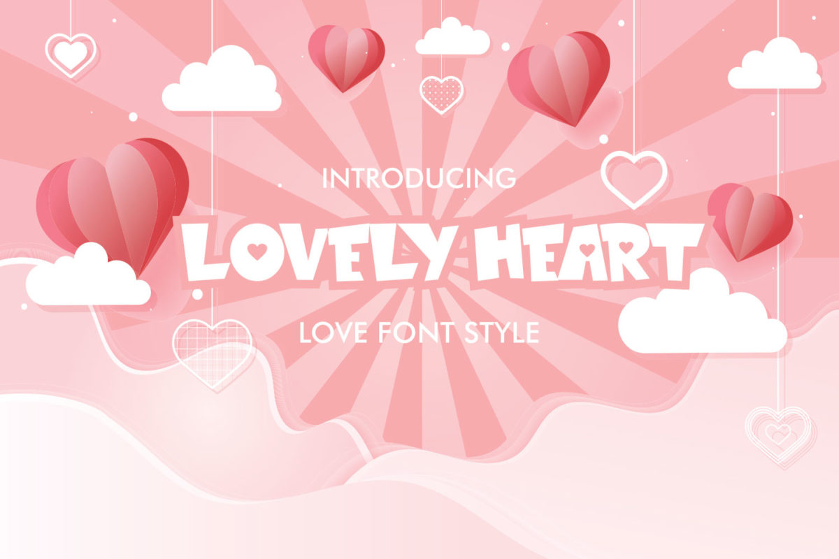 Lovely Heart in Display Fonts