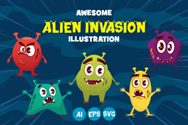 Alien Invasion in Display Fonts