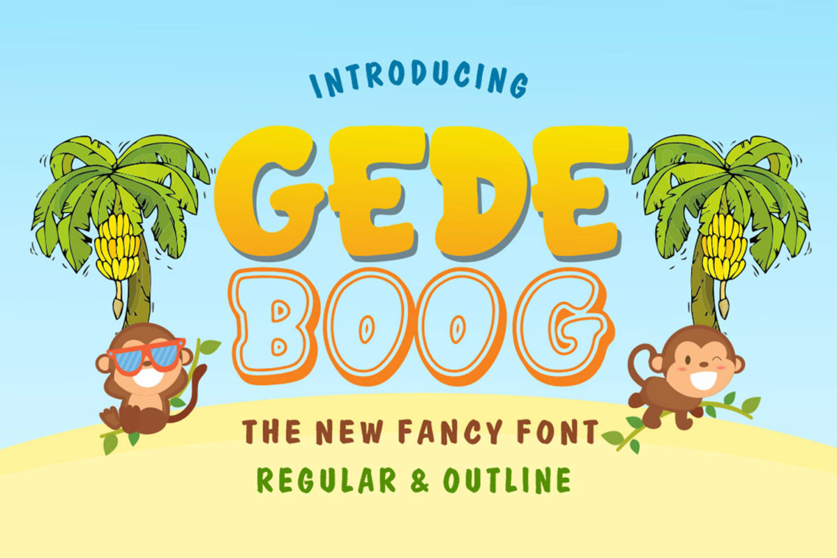 Gedeboog in Display Fonts