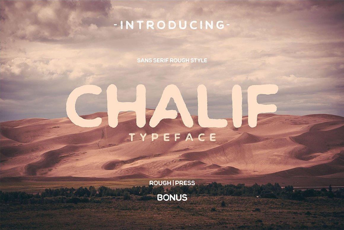 Chalif - Vintage Font in Display Fonts